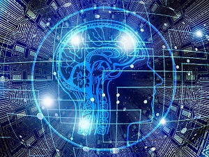 circuitry and human brain icon