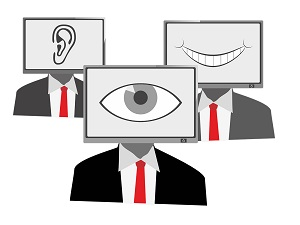 computer monitors displaying  and eye, ear, and mouth